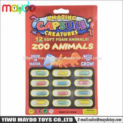 Cada vez más sorprendentes criaturas la magia de la cápsula de los animales de zoológico de espuma suave esponja hinchable de juguete de novedad