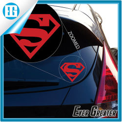 Superman transformador de vinilo de gran ventana auto adhesivo