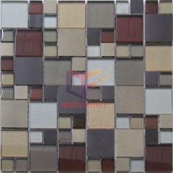 Aluminium en de Glas Gemengde Tegels van het Mozaïek (CFM991)