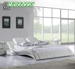 A021 Chambre Lit Leater blanc avec LED