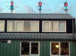 الاستخدام المنزلي أقل 25 ديسيبل 600 واط طاقة الرياح الرأسية تشغيل التوربين السطح