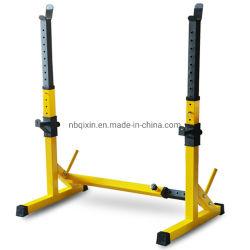 Supporto per rack a barre regolabile per uso domestico, base di sollevamento pesi Attrezzatura fitness con telaio di spinta orizzontale