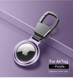 Supporto di sicurezza per custodia Apple Airtag cappuccio di protezione portachiavi Accessori per il tracciante del paraurti Custodia per etichette pneumatiche con portachiavi anti-graffio