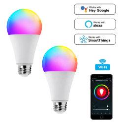 Dimerizável 9W60 Cor RGB LED de mudança WiFi Lâmpada de Luz