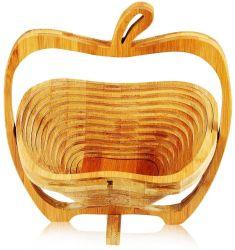 Съемные Apple бамбука в форме корзина фруктов - на кухне занимает центральное место чашу стиле
