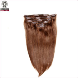 Recta Larga de seda natural de 20 pulgadas de Remy derechos Virgen Hair Extension cortar el pelo