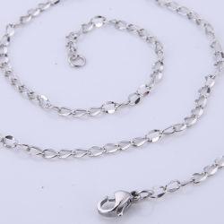 مجوهرات الأزياء سلسلة طويلة عقد أزياء مصنوع من الفولاذ المقاوم للصدأ لصنع الحرف اليدوية