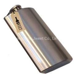 Silver Whisky en acier inoxydable Hip ballon Bouteille de 750ml