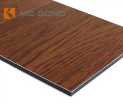 Walnuss Rot Holzmaserung ACM leicht zu Schlitzen und Biegen Aluminium-Verbundplatte