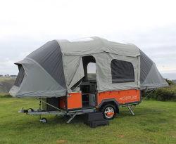 قماشية من القطن البوليستر قماشية من قماشية من قماشية صلبة مفردة خيمة مقطورة ذات أرضية صلبة يتضمن المقطورة