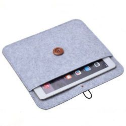 Wholesale Fabrik-Gro?verk?ufe 2020 kundenspezifischen Grau-Filz-Laptop-Beutel für MacBook iPad