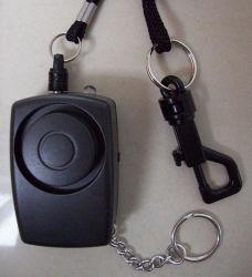 Mini alarma personal con llavero y luz LED