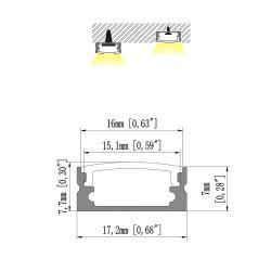 1707 des konkurrenzfähigen Preis-U Kanal-Zeichen-Zeichen Form-des Profil-Aluminium-LED für LED-Streifen-Profil