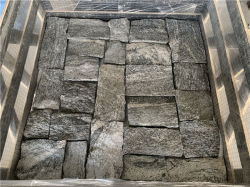 Натуральный камень ослабление серого камня плитки для внешних и внутренних стен,камин,открытый ландшафтный стиле,колонок