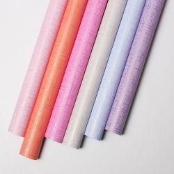 Tissu Style du grain de l'impression à deux côtés du papier d'enrubannage de fleur étanche
