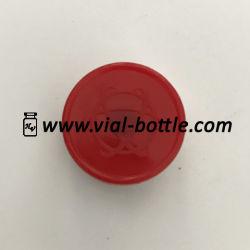 Logo gaufré Propharma Lab Cap Rouge Logo personnalisé 20mm Cap flip off Tops