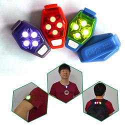 Sécurité en plein air Clip en plastique sur les lumières stroboscopiques, feu de clignotant, rougeoyant lumière LED Clip