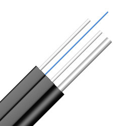 FTTH G657 1 Core 2 مع ألياف كابل الاتصالات عن طريق Messenger كبل بصري كبل بصري من الألياف الضوئية داخلي