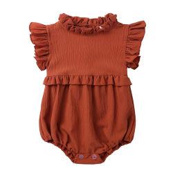 Les nourrissons et jeunes filles dentelle robe sans manches Col Jumpsuit vêtements de bébé