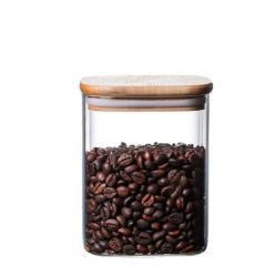 600 ml Coffee Bean contenitore vetro vaso per la conservazione di alimenti utensili da cucina per cereali Vetreria