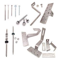 Roestvrij staal SS304 A2 M10X200/250/300 /schroef voor ophanghaafbout/ Dubbeluiteinde Schroef met houtdraad/handschroeven/Dowel-schroeven voor Solar Energy Bracket Systeem