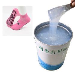 卸し売りソックスは滑り止めのコーティングの液体の有機性シリコーン材料を印刷した