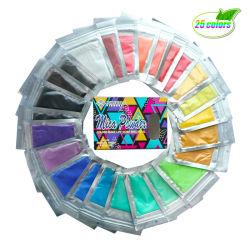 25 لونًا، لون طبيعي عالي الجودة، شفاه لامع غير لامع، ميكا باودر لسابون يجعل [رسين] [إيشدوو] دهان [إبوإكسي] [إبوإكسي] شموع