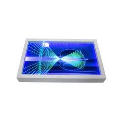 Het elektrische Blauwe en Purpere Lichte AcrylVakje van de Vertoning van de Oppervlakte van de Vertoning van de Lijst Hellende