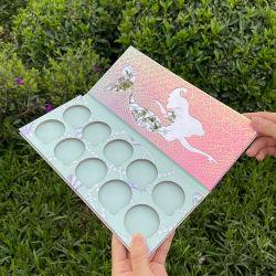 Firstsail holográfica de sirena de escala de peces de colores brillantes Eyeshadow 10 Impermeable Glitter caso envases vacíos de 26mm bandeja magnética de la paleta de maquillaje