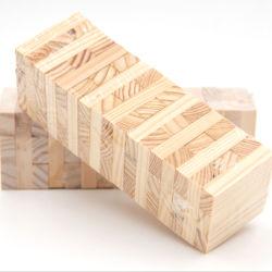 Kundenspezifisches klassisches Jenga hölzernes Spiel, das stolpernde Bauholz-Aufsatz-Bausteine stürzt