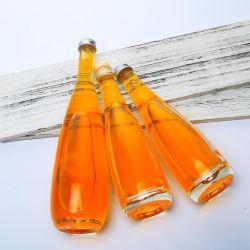 Fancy Design 330/500/750ml Aluminium Kappe Glasflasche mit Kork für Softdrink Aufblasbarer Cocktail Fruchtige Aromen