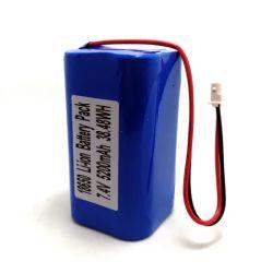 7,4V 2s2p 18650 5200mAh lítio Ternário Bateria recarregável com placa de protecção