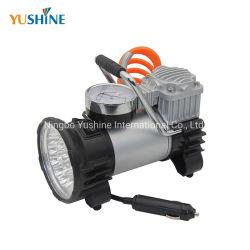 China-Fabrik-Großverkauf-Gummireifen-Luftpumpe-Luftverdichter für Autos mit LED-Licht