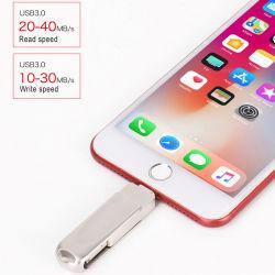 Feder-Laufwerk DES OTG USB-Blitz-Laufwerk-Metall-USB-grelles Stock-8GB 16g 32g 64G für iPhone X 8 7 6 Plus6s 5s 5c iPad