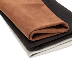 Künstliches synthetisches Verschleißfestigkeit nichtgewebtes Microfiber Veloursleder-Leder für Automobilinnendecken-Lenkrad-Tür-Panel bereift Beutel-Kleidung