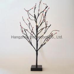 Красный вишневого дерева 60см 25 LED Елки лампы