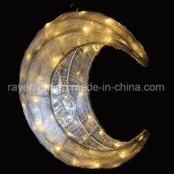 A decoração do Festival lua em quarto crescente, luz LED de luz da estrela Luzes Motif