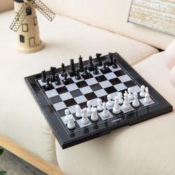 3 in 1 scacchi magnetico di corsa, ispettori, gioco di scacchi della tavola reale impostato con la scheda di scacchi di legno