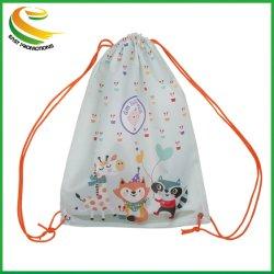 Commerce de gros de haute qualité sac à dos Sac avec lacet de serrage réutilisables