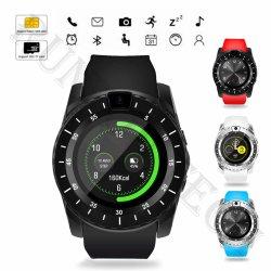 V88 de la carte SIM de l'écran tactile montre-bracelet Bluetooth Smart Watch pour les téléphones
