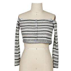 Nouvelle mode off féminin occasionnelles de l'épaule chemisier d'usure supérieure