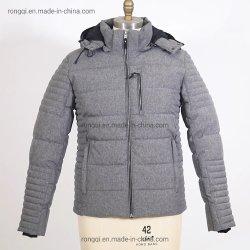 Il metallo staccabile riempito del cappuccio degli uomini Zippers il cappotto