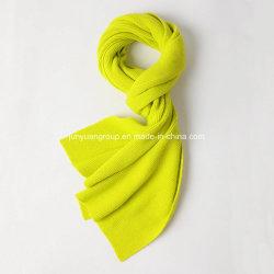 Dama de la moda de colores sólidos J&K Series Bufanda de punto de lana
