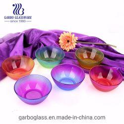 Comercio al por mayor 340ml colorido pulverizada tazón de vidrio.