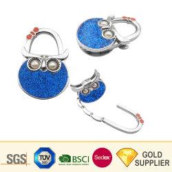 創造的な設計昇進の注文のロゴの方法袋のテーブルの上の折る即刻の財布のフックのハンドバッグハンガーホルダーの携帯用折りたたみ式手金属の女性袋ハンガー