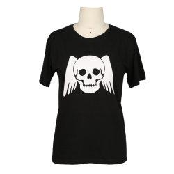 Col rond T-shirt en coton d'impression haut de page pour les hommes