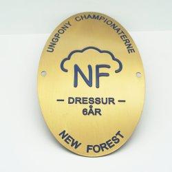 Logotipo personalizado directo de fábrica de metal de recuerdos de la placa de nombre de la dirección
