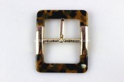 Leopard-Druck-Plastikgürtelschnalle-Harz-Faltenbildung für Beutel-Kleidung
