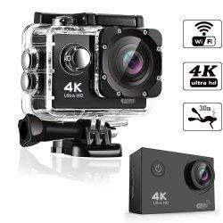 WiFi 4K 및 1080P30m 방수 스포츠 동영상 카메라 액션 카메라