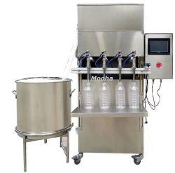 De semi Automatische Vloeibare het Drinken van het Water Machine van de Verpakking van het Flessenvullen van de Kop van de Melk van de Sojasaus van de Olie van het Kruid